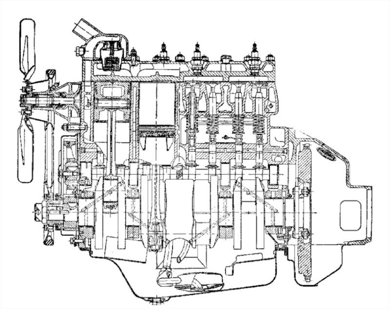 М20 01 Двигатель в разрезе